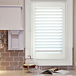 Thumb of white painted timber plantation shutters for the kitchen decor