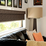 Thumb of sun blockout interior roller blinds with fascias - family room decor