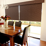 Thumb of sun blockout roller blinds with pelmets - dining room decor